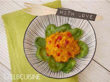 Rezept Geniales Mango-Kürbis-Püree mit Chili-Öl