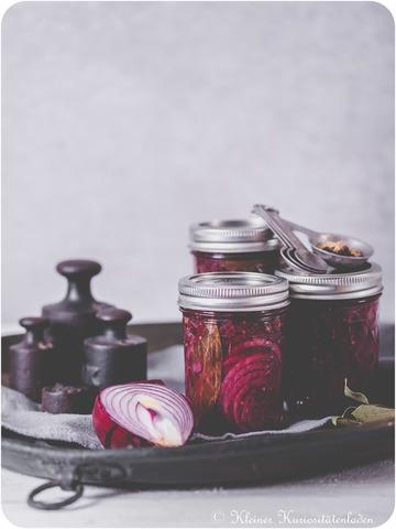 Rezept Gepickelte rote Zwiebeln