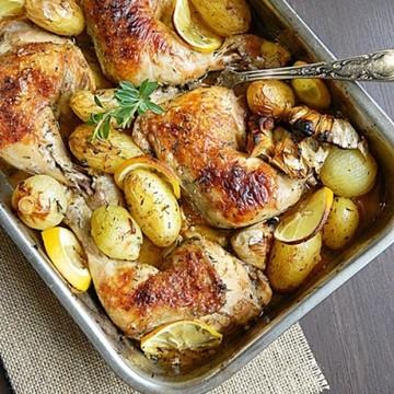 Rezept Gerostete Hähnchen mit Kräuter & Zitronen