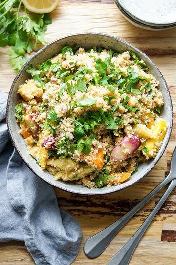 Rezept Geröstete Karotten, Pastinaken und Kichererbsen mit Quinoa