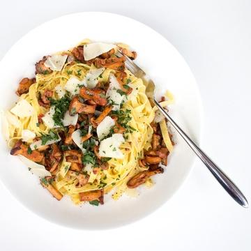 Rezept Geröstete Pfifferlinge mit Pasta und brauner Butter