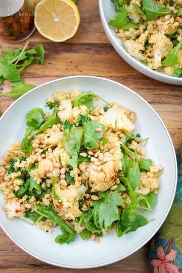 Rezept Gerösteter Blumenkohl mit Hirse und Rucola