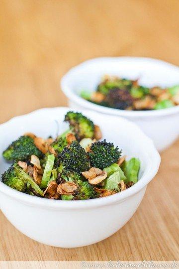 Rezept Gerösteter Brokkoli mit frittiertem Knoblauch