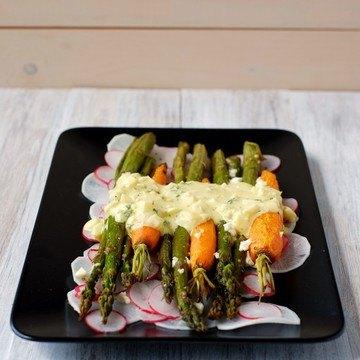 Rezept Gerösteter Spargel- und Karottensalat