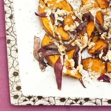 Rezept Gersötete Süßkartoffel mit Tahinisauce