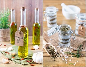 Rezept Geschenke aus der Küche: Knoblauch-Chili-Öl und Kräuter-Salz