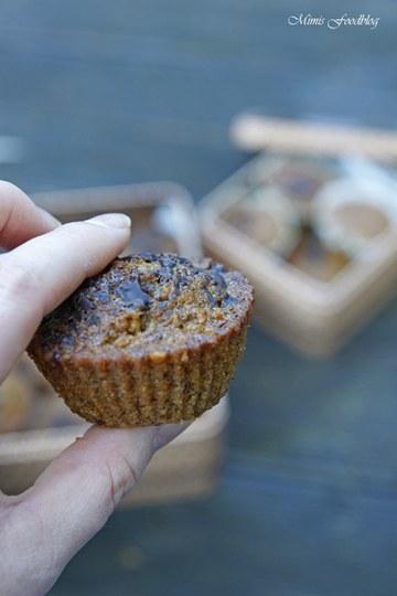 Rezept Gesunde Buchweizen-Schoko-Muffins mit Karotten und Haferflocken