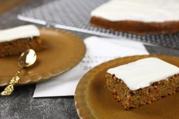 Rezept Gesunde Carrot-Cake Schnitten