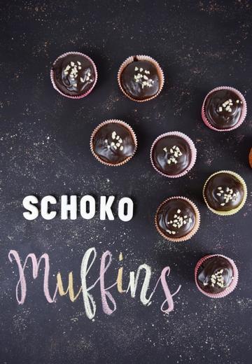 Rezept gesunde, leichte & mehlfreie Schokomuffins