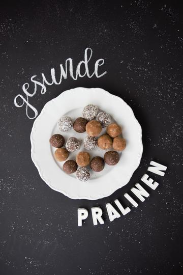 Rezept gesunde Pralinen/ Energy Balls/ Bliss Balls