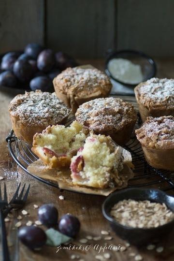 Rezept Gesunde Zwetschgen-Joghurt-Muffins