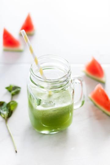 Rezept Gesunder Durstlöscher: Melonen-Minze-Saft
