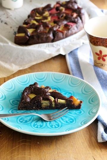 Rezept Gesunder Schokoladkuchen mit Rhabarber