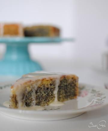 Rezept getränkter Orange Mohn Kuchen