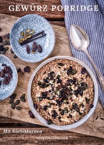 Rezept Gewürz Porridge mit Kürbiskernen und Sauerkirschen