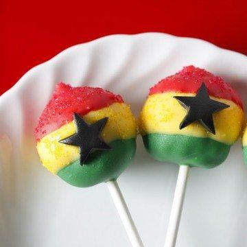 Rezept Ghana Flaggen Cake Pops