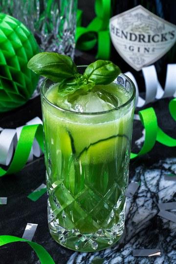 Rezept Gin Fizz mit Gurke, Ingwer und Basilikum