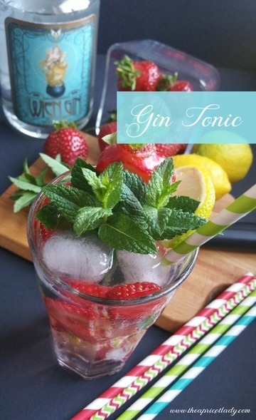 Rezept Gin Tonic mit Schätzen aus dem Garten