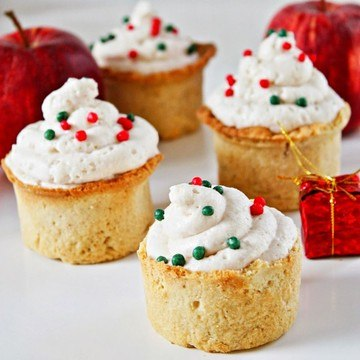 Rezept Gingerbread Cookie Cups mit Bratapfel-Mousse
