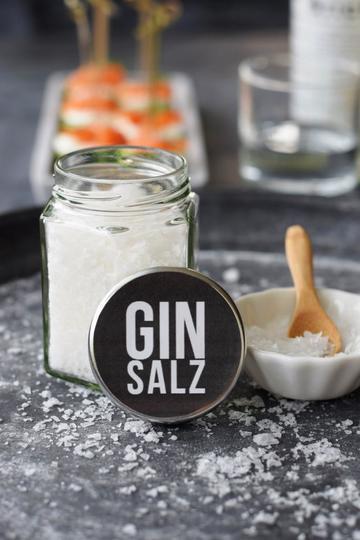 Rezept Ginsalz - einfach selbstgemacht. DIE Geschenkidee für Gin-Fans!