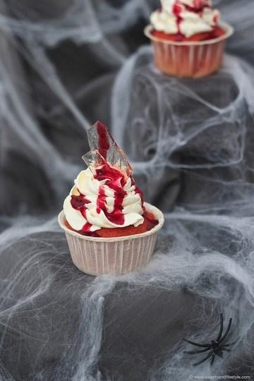 Rezept Glassplitter Cupcakes für Halloween