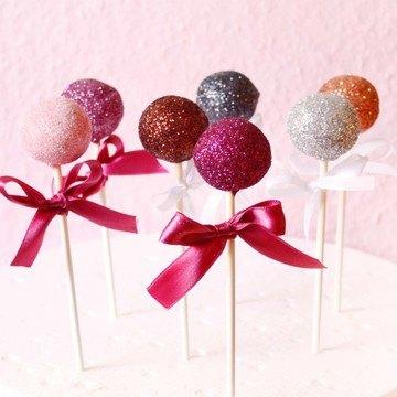 Rezept Glitzer Cake Pops // Silvester