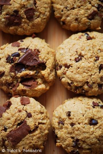 Rezept Glutenfreie Chocolate Chip Cookies mit Walnüssen & Hafer