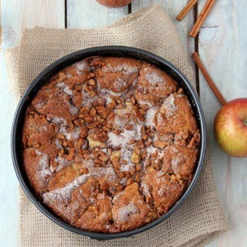 Rezept Glutenfreier Apfelkuchen mit Walnuessen