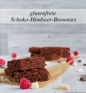 Rezept glutenfreier Schoko-Himbeer-Brownie
