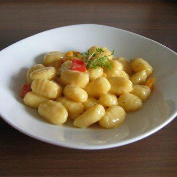 Rezept Gnocchi in Gorgonzola-Sauce mit frischer Paprika