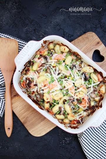 Rezept Gnocchi mit Erbsen und Parmesanrahm