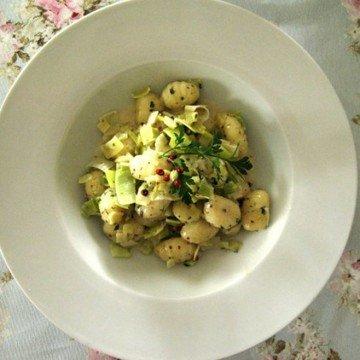 Rezept Gnocchi mit Porree in Rotisseur-Senf-Rahm
