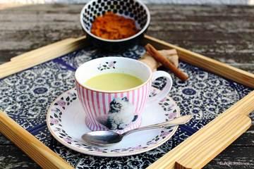 Rezept Goldene Milch auch bekannt als Kurkumalatte
