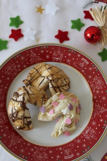 Rezept Goldige Glückskekse aus der Weihnachtsbäckerei