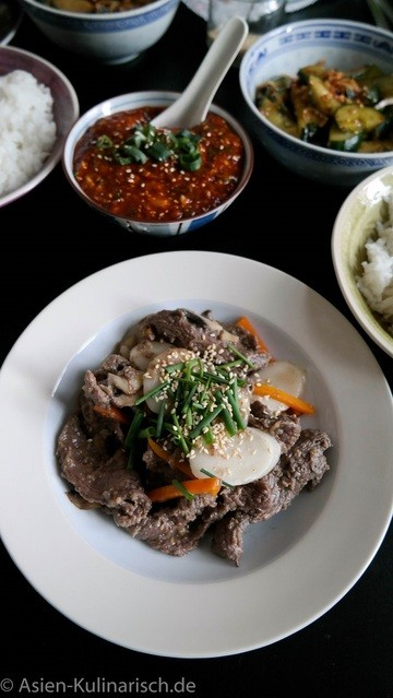 Rezept Goong Joong Ddukbokki - Koreanisches Rindfleisch mit Rice Cakes