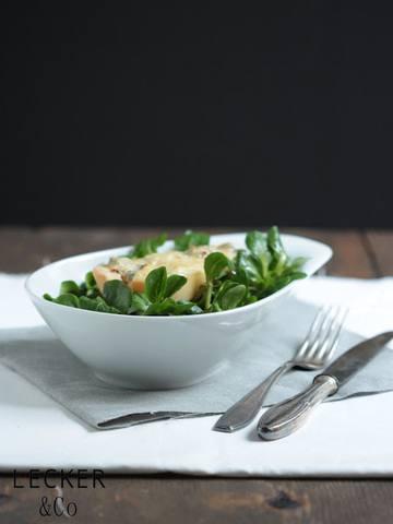 Rezept Gorgonzola-Birne mit Feldsalat