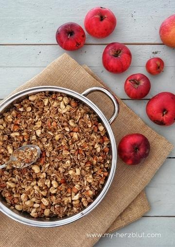 Rezept Granola - schmeckt nach Herbstzauber x gebrannte Mandel