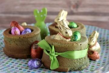 Rezept Grasgrüne Matcha-Osternester