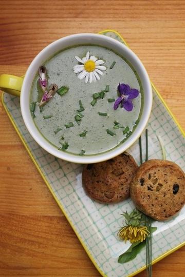 Rezept Grasgrünes Wildkräutersüppchen