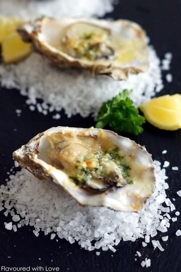 Rezept Gratinierte Austern