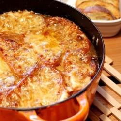 Rezept Gratinierte französische Zwiebelsuppe