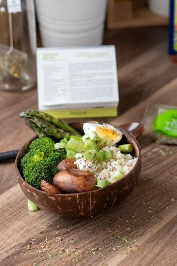 Rezept Green Bowl, gesundes Essen für deine Mittagspause