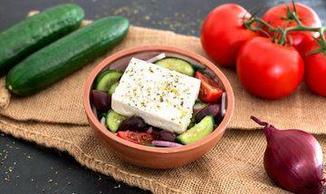 Rezept Griechischer Bauernsalat (Χωριάτικη/Choriatiki)