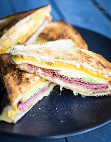 Rezept Grilled Cheese Sandwich mit Pastrami