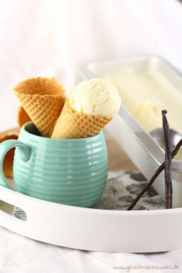 Rezept Grundrezept für klassisches Vanilleeis & Vanilleeis aus nur 3 Zutaten