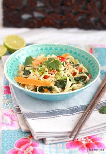 Rezept Grüne Currynudeln