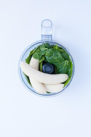 Rezept Grüne Muffins mit Banane und Spinat
