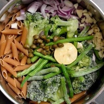 Rezept Grüne One-Pot-Pasta