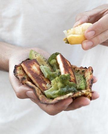 Rezept Grüne Zucchini Wraps