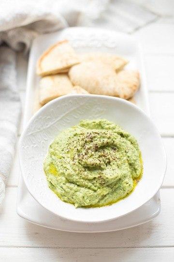 Rezept Grüner Hummus – Dicke Bohnen Dip